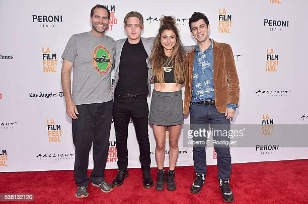 Actor Andy Buckley Chase Offerle and codirectors Alexi Pappas and Jeremy Teicher attend the premiere of 'Tracktown' during the 2016 Los Angeles Film...