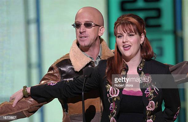 Actor Andy Dick and actress Sara Rue during the VH1 Big In 2002 Awards at the Olympic Stadium on December 4 2002 in Los Angeles California