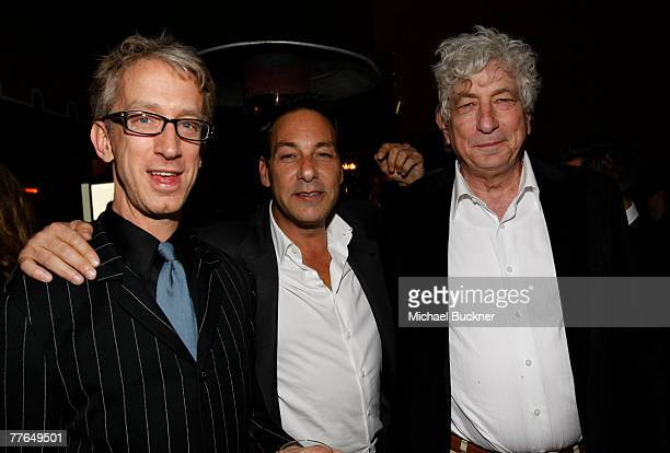 Actor Andy Dick, producer Henry Winterstern and producer Avi Lerner attend Avi Lerner's Birthday Bash hosted by Nu Image partners Danny Dimbort and...