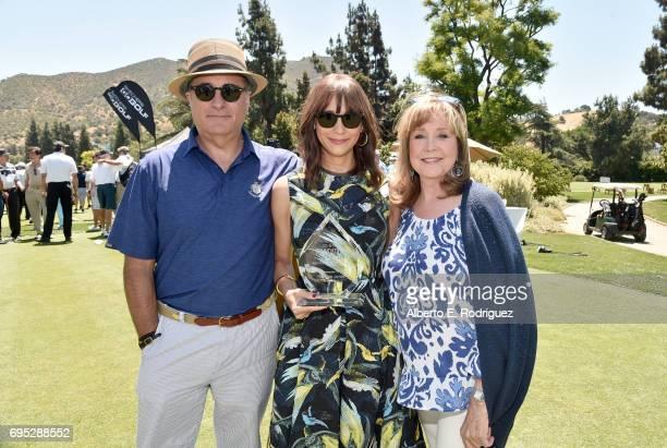 Actor Andy Garcia actress Rashida Jones and SAGAFTRA Foundation Executive Director Cyd Wilson attend the SAGAFTRA Foundation 8th Annual LA Golf...