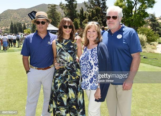 Actor Andy Garcia actress Rashida Jones SAGAFTRA Foundation Executive Director Cyd Wilson and actor Ron Perlmanattend the SAGAFTRA Foundation 8th...