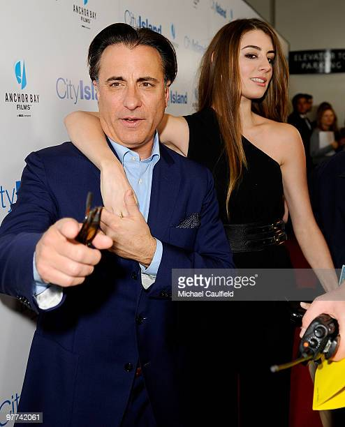 Actor Andy Garcia and actress Dominik GarciaLorido arrive at the Los Angeles premiere of City Island held at Westside Pavillion Cinemas on March 15...