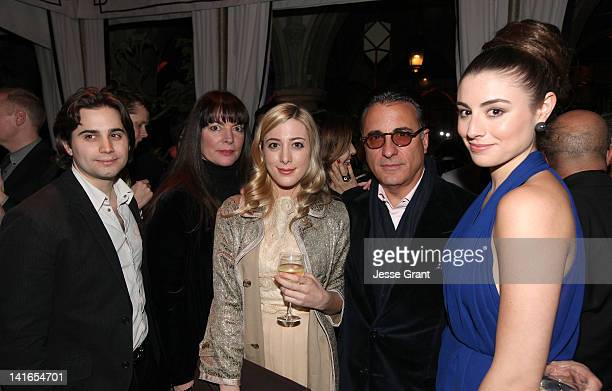 Actor Andy Garcia and actress Dominik GarciaLorido with their family at the premiere of Starzs 'Magic City' after party held at Chateau Marmont on...