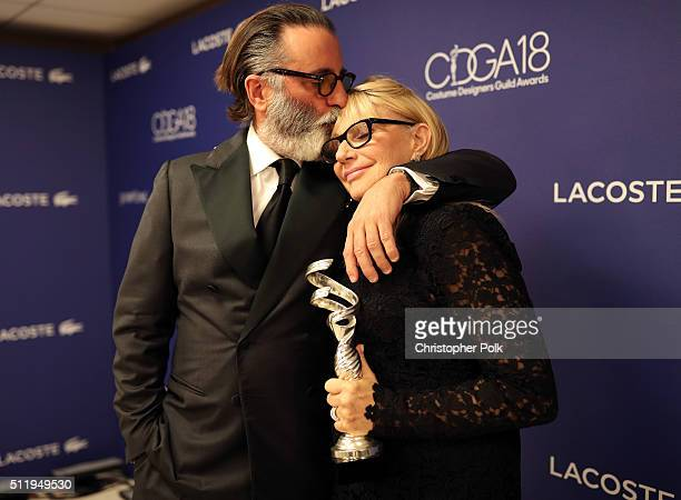 Actor Andy Garcia and Career Achievement Award recipient Ellen Mirojnick attend the 18th Costume Designers Guild Awards with Presenting Sponsor...