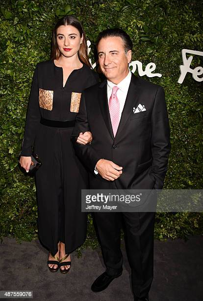 Actor Andy Garcia and daughter actress Dominik GarciaLorido arrive at the Salvatore Ferragamo 100 Years In Hollywood celebration at the newly...