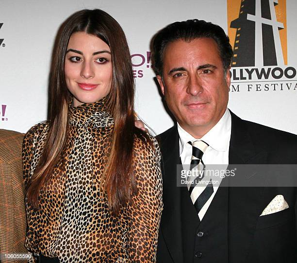 Actor Andy Garcia and daughter actress Dominik GarciaLorido attend the 14th annual Hollywood Awards Gala at The Beverly Hilton Hotel on October 25...
