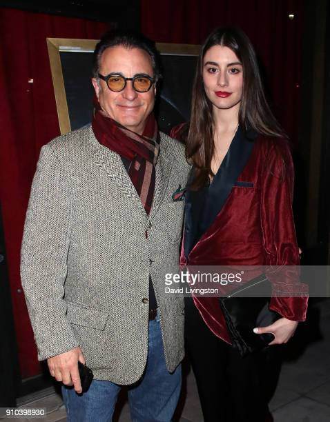 Actor Andy Garcia and daughter actress Dominik GarciaLorido attend the premiere of Parade Deck Films' Desolation at Ahrya Fine Arts Theater on...