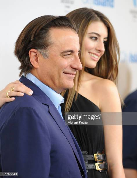 Actor Andy Garcia and daughter actress Dominik GarciaLorido attend the Los Angeles Premiere of 'City Island' on March 15 2010 in Los Angeles...