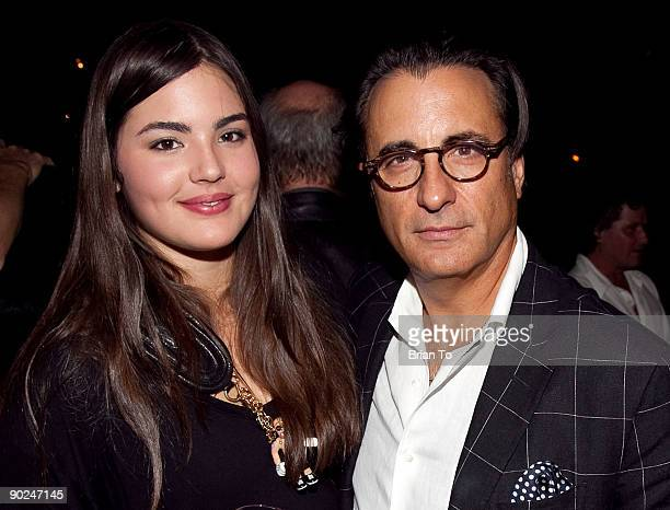 Actor Andy Garcia and daughter Alessandra GarciaLorido attend Greg Gorman's 60th Birthday Party on August 28 2009 in Hollywood California