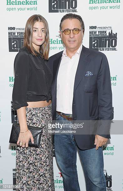 Actor Andy Garcia and daughter Dominik GarciaLorido attend a conversation with Andy Garcia during the 12th annual NY International Latino film...