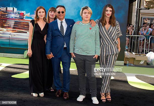 "Actor Andy Garcia and family attend the Los Angeles Premiere of ""Ghostbusters in Hollywood, California, on July 9, 2016. / AFP / VALERIE MACON"