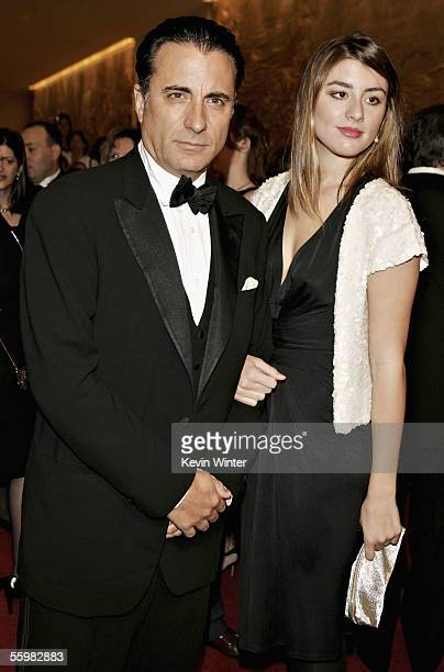 Actor Andy Garcia and his daughter arrive at the 20th Annual American Cinematheque Award Dinner Honoring Al Pacino at the Beverly Hilton Hotel on...