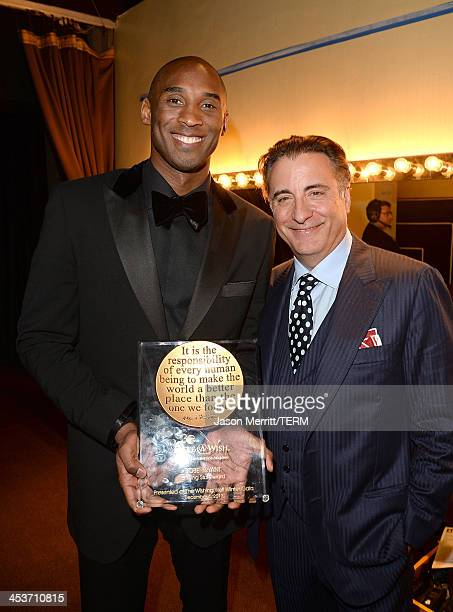 Actor Andy Garcia and NBA Basketball Star Kobe Bryant attend the MakeAWish Greater Los Angeles 30th Anniversary Gala on December 4 2013 in Los...