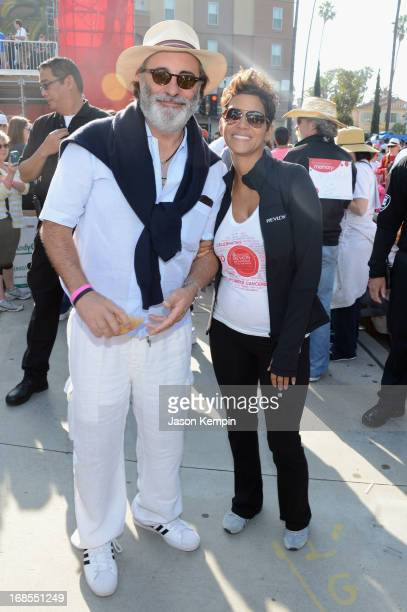 Actor Andy Garcia and Revlon Brand Ambassador Halle Berry attend the 20th Annual EIF Revlon Run/Walk For Women at Los Angeles Memorial Coliseum on...