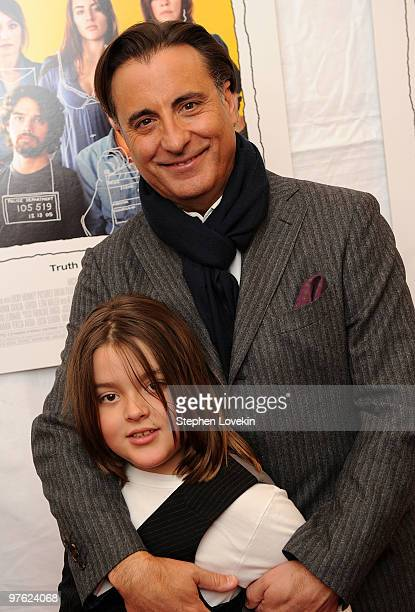 Actor Andy Garcia and son Andres Garcia attend the premiere of City Island at The Directors Guild of America Theater on March 10 2010 in New York City