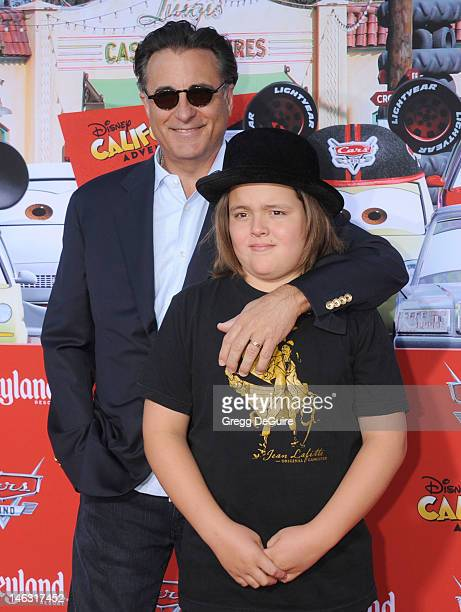 Actor Andy Garcia and son Andres GarciaLorido arrive at 'Cars Land' Grand Opening at Disney's California Adventure on June 13 2012 in Anaheim...