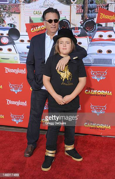 Actor Andy Garcia and son Andres GarciaLorido arrive at Cars Land Grand Opening at Disney's California Adventure on June 13 2012 in Anaheim California