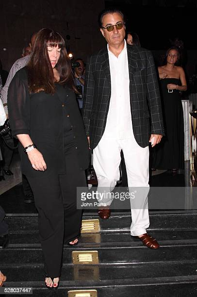 Actor Andy Garcia and wife Marivi Lorido Garcia attend a party in honor of Pulitzer Prize winning author Liz Balmaseda at Eden Roc Resort on July 8...