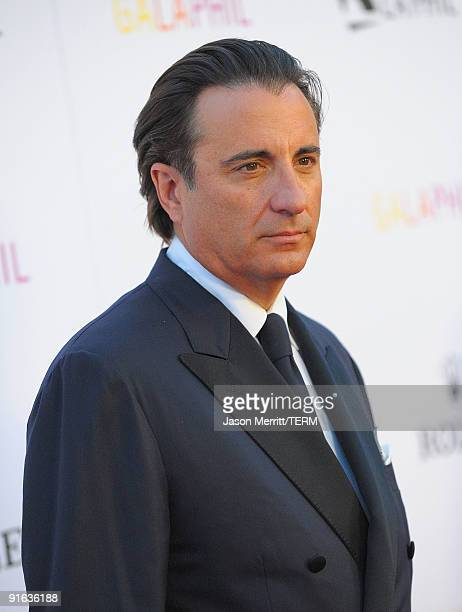 Actor Andy Garcia arrives at the Inaugural Gala of the Los Angeles Philharmonic at the Walt Disney Concert Hall on October 8 2009 in Los Angeles...