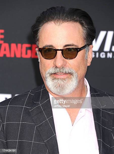 Actor Andy Garcia arrives at 'The Lone Ranger' World Premiere at Disney's California Adventure on June 22 2013 in Anaheim California