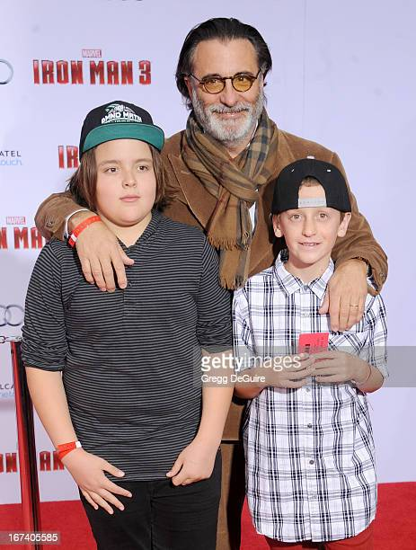 Actor Andy Garcia arrives at the Los Angeles premiere of Iron Man 3 at the El Capitan Theatre on April 24 2013 in Hollywood California