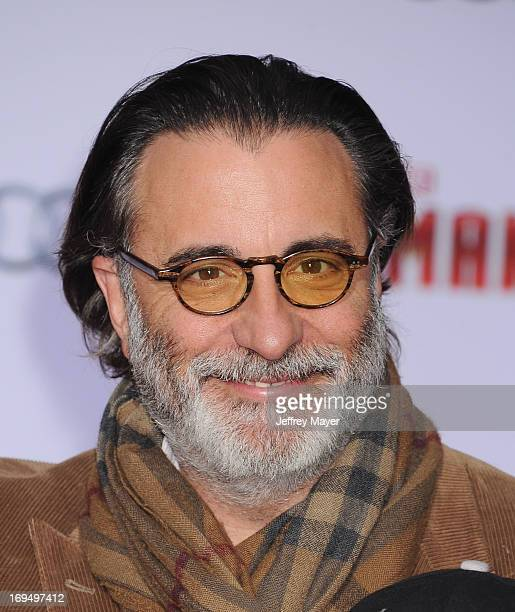 Actor Andy Garcia arrives at the Los Angeles Premiere of 'Iron Man 3' at the El Capitan Theatre on April 24 2013 in Hollywood California