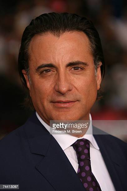 Actor Andy Garcia arrives to the Warner Bros premiere of the film 'Ocean's 13' at Grauman's Chinese Theatre on June 5 2007 in Hollywood California