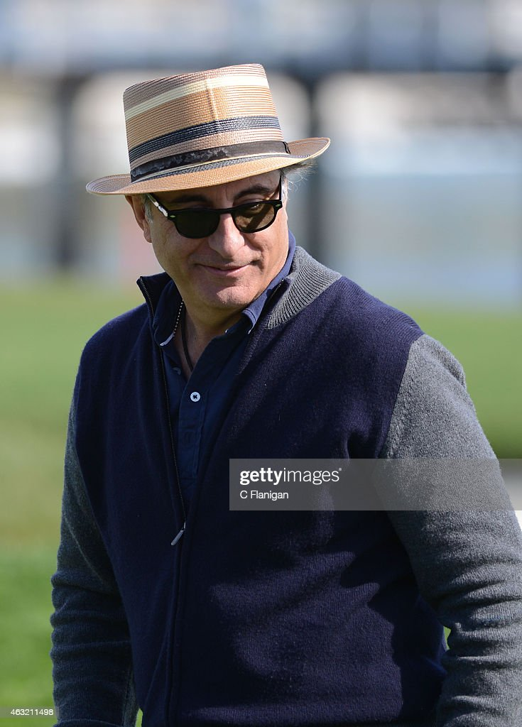 Actor Andy Garcia at the 18th hole during the 3M Celebrity Challenge before the AT&T Pebble Beach National Pro-Am at the Pebble Beach Golf Links on February 11, 2015 in Pebble Beach, California.