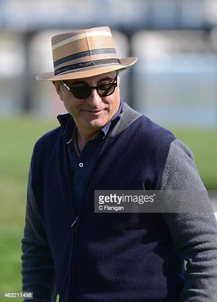 Actor Andy Garcia at the 18th hole during the 3M Celebrity Challenge before the ATT Pebble Beach National ProAm at the Pebble Beach Golf Links on...