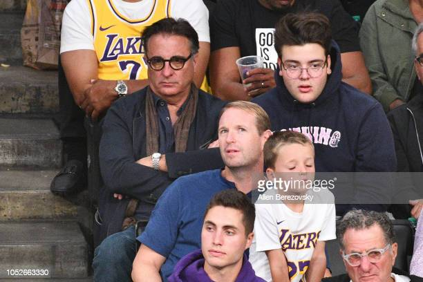 Actor Andy Garcia attends a basketball game between the Los Angeles Lakers and the Houston Rockets at Staples Center on October 20 2018 in Los...