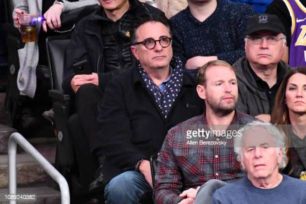 Actor Andy Garcia attends a basketball game between the Los Angeles Lakers and the Oklahoma City Thunder at Staples Center on January 02 2019 in Los...