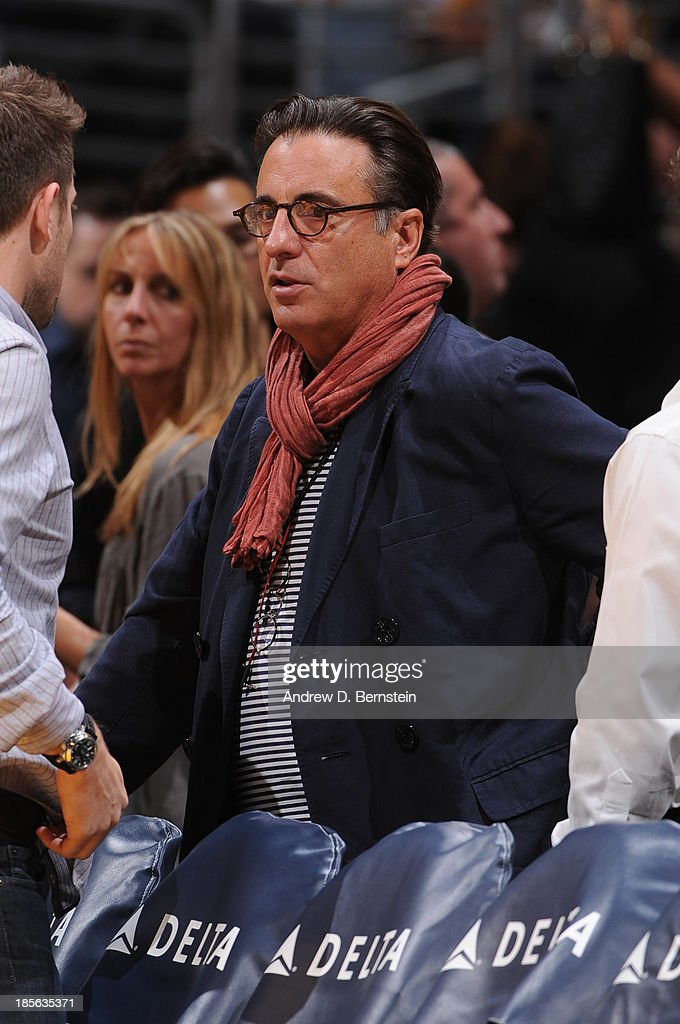 Actor Andy Garcia attends a game between the Utah Jazz and the Los Angeles Lakers at Staples Center on October 22, 2013 in Los Angeles, California.