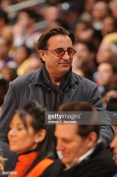 Actor Andy Garcia attends a game between the Washington Wizards and the Los Angeles Lakers at Staples Center January 22 2009 in Los Angeles...