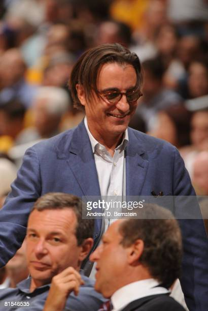 Actor Andy Garcia attends Game Four of the 2008 NBA Finals between the Boston Celtics and the Los Angeles Lakers at Staples Center on June 12 2008 in...