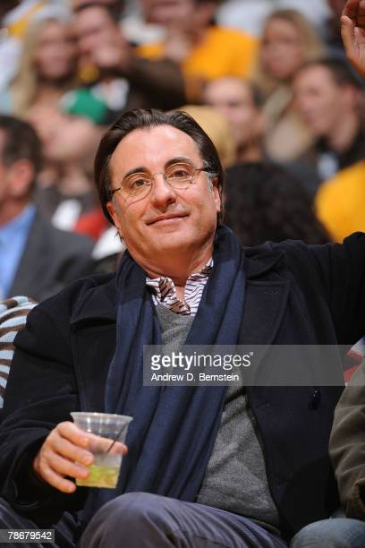 Actor Andy Garcia attends the game between the Boston Celtics and the Los Angeles Lakers at Staples Center December 30 2007 in Los Angeles California...