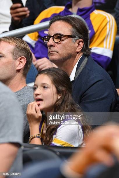 Actor Andy Garcia attends the Toronto Raptors game against the Los Angeles Lakers on November 4 2018 at Staples Center in LOs Angeles California NOTE...