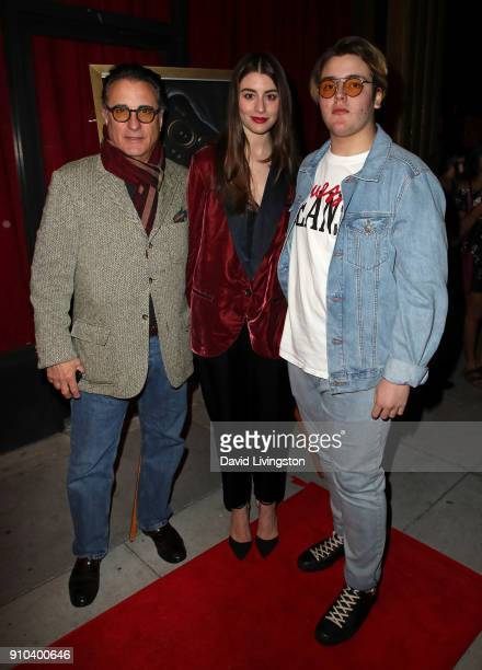 Actor Andy Garcia daughter actress Dominik GarciaLorido and son Andres Garcia attend the premiere of Parade Deck Films' Desolation at Ahrya Fine Arts...