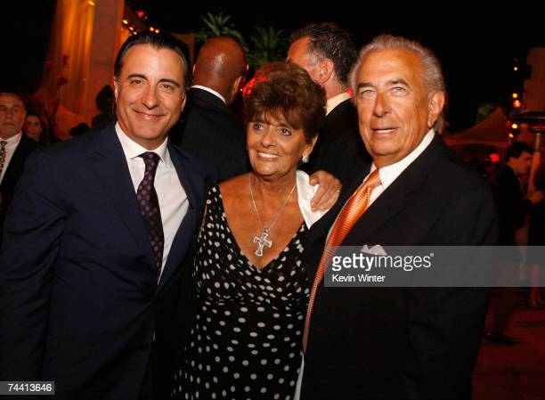 Actor Andy Garcia Faye Mancuso and Frank Mancuso during the after party for the Warner Bros premiere of the film 'Ocean's 13' on June 5 2007 in...