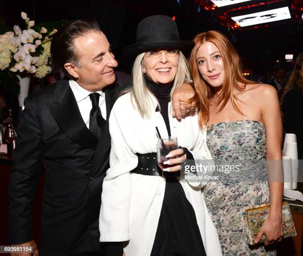 Actor Andy Garcia Honoree Diane Keaton and Daniella GarciaLorido attend the after party for American Film Institute's 45th Life Achievement Award...