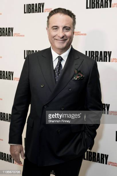 Actor Andy Garcia host of the the 2019 Gershwin Prize Honoree's Tribute Concert on the red carpet at DAR Constitution Hall on March 13 2019 in...