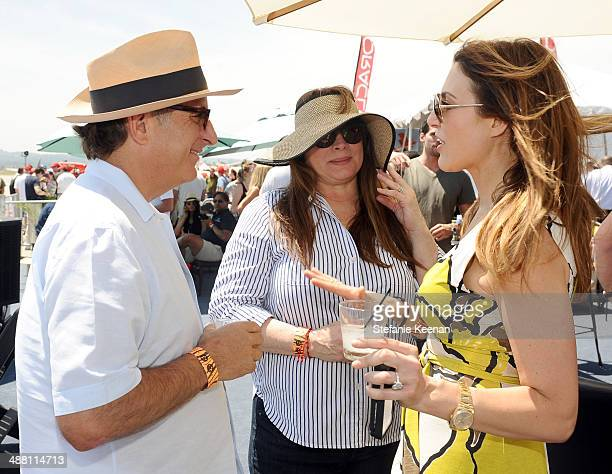 Actor Andy Garcia Marivi Lorido Garcia and tv personality Thea Andrews attend The Horsemen Flight Team Event Hosted By Dan Friedkin And Lauren...