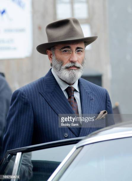 Actor Andy Garcia on the set of 'Rob The Mob' on May 22 2013 in New York City