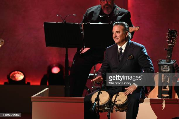 Actor Andy Garcia performs at the 2019 Gershwin Prize Honoree's Tribute Concert at DAR Constitution Hall on March 13 2019 in Washington DC