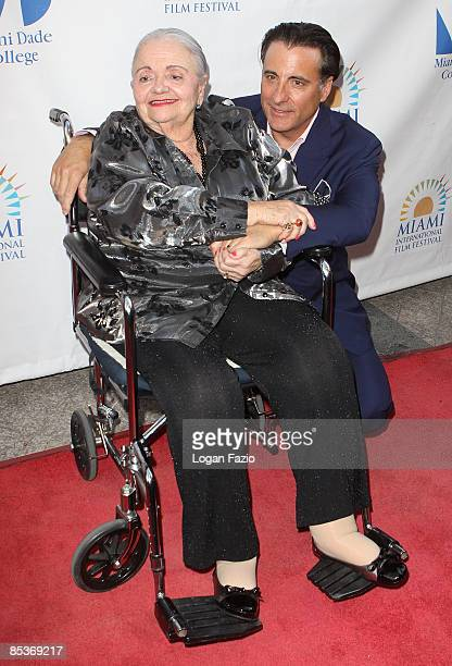 Actor Andy Garcia poses with his mother Amelie Garcia at the screening of Cachao Uno Mas during the 2009 Miami International Film Festival at Gusman...