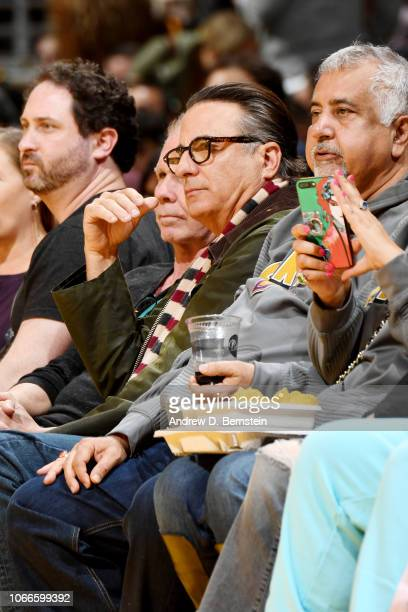 Actor Andy Garcia seen courtside at the game between the Indiana Pacers and the Los Angeles Lakers on November 29 2018 at STAPLES Center in Los...