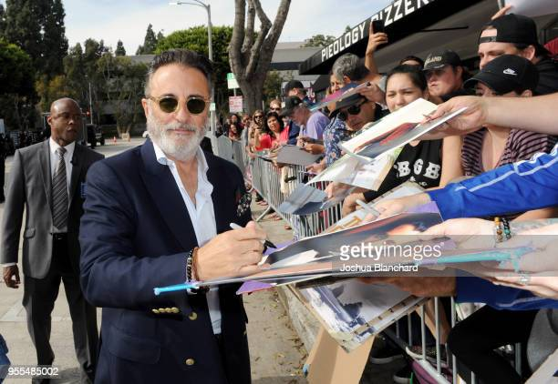Actor Andy Garcia signs autographs at the Los Angeles premiere of 'Book Club' at Regency Village Theatre on May 6 2018 in Westwood United States