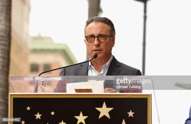 Actor Andy Garcia speaks at a ceremony honoring television producer Ken Corday with a star on the Hollywood Walk Of Fame on May 15 2017 in Hollywood...