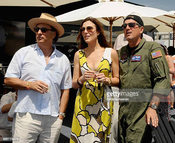 Actor Andy Garcia tv personality Thea Andrew and pilot Ed Shipley attend The Horsemen Flight Team Event Hosted By Dan Friedkin And Lauren Sanchez...