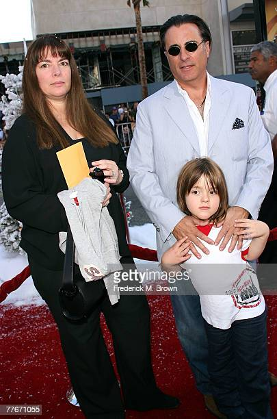 Actor Andy Garcia wife Marivi Lorido Garcia and son arrive at the premiere of Warner Bros Fred Claus held at the Grauman's Chinese Theater on...