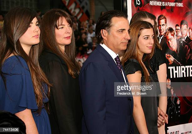 Actor Andy Garcia wife Marivi Lorido Garcia and their family arrive to the Warner Bros premiere of the film Ocean's 13 at Grauman's Chinese Theatre...